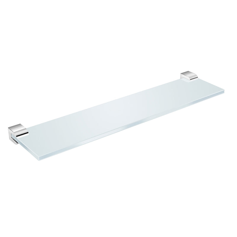 "DAX Milano Bathroom Shelf, Wall Mount, Brass Body with Tempered Glass, Brushed Finish, 15-3/4"" Inches (DAX-GDC160144-BN)"