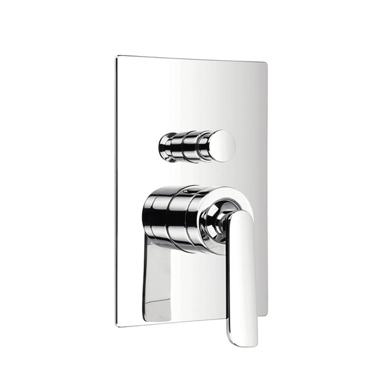 DAX Square Shower Single Valve Trim, Brass Body, Chrome Finish (DAX-8308E)