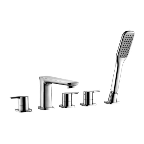 DAX Hot Tub Faucet with Hand Shower, Deck Mount Brass Body, Chrome Finish, 7-7/8 x 4-1/8 Inches (DAX-8138C)
