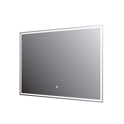 DAX LED Backlit Bathroom Vanity Mirror with Touch Sensor, 110 V, 50-60Hz, 31-1/2 x 23-5/8 x 12 5/8 Inches (DAX-DL758060)