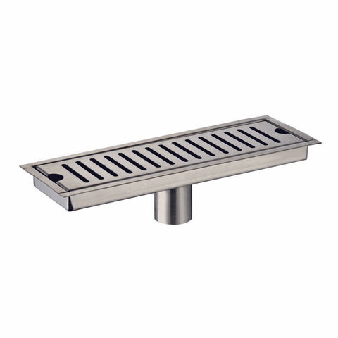 DAX Rectangle Shower Floor Drain, Stainless Steel Body, Brushed Nickel Finish, 34-9/16 x 3-15/16 Inches (D-R103-L90)