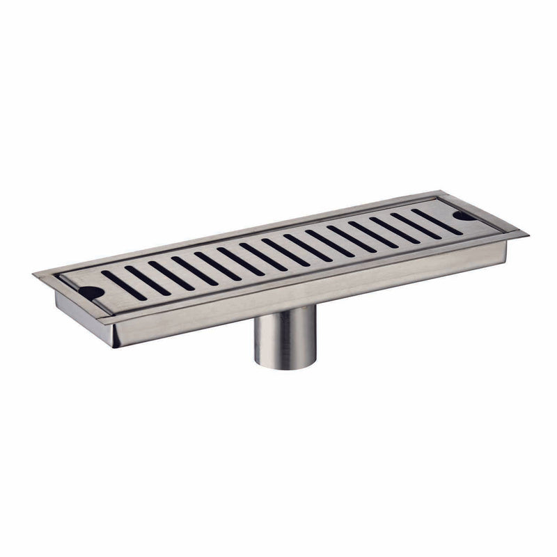 DAX Rectangle Shower Floor Drain, Stainless Steel Body, Brushed Stainless Steel Finish, 35-7/16 x 3-15/16 Inches (D-R103-L90)