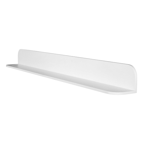 DAX Solid Surface Bathroom Shelf, Wall Mount, White Matte Finish, 47-1/4 x 4-3/4 x 4-3/4 Inches (DAX-AB-1560-47)