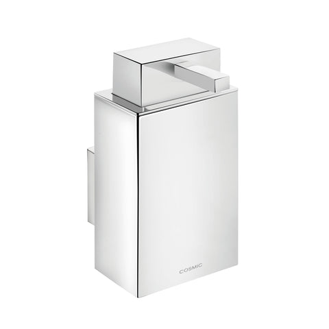 COSMIC Bathlife Soap Dispenser, Wall Mount, Brass Body, Chrome Finish, 2-7/16 x 7-3/16 x 4-3/16 Inches (2290105)
