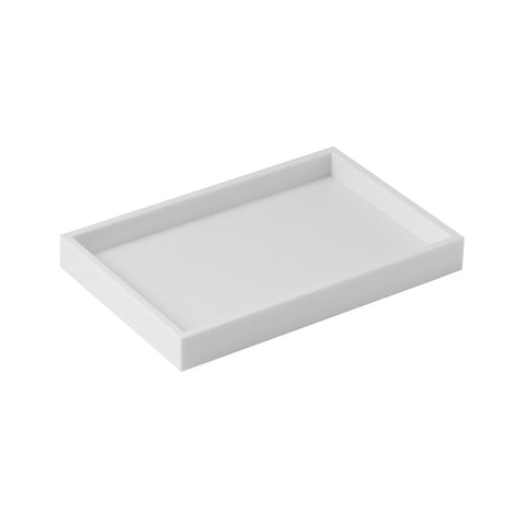 COSMIC Bathlife Soap Dish, Tray, Acrylic Glass, White Finish, 7-1/16 x 15/16 x 4-11/16 Inches (2290533)