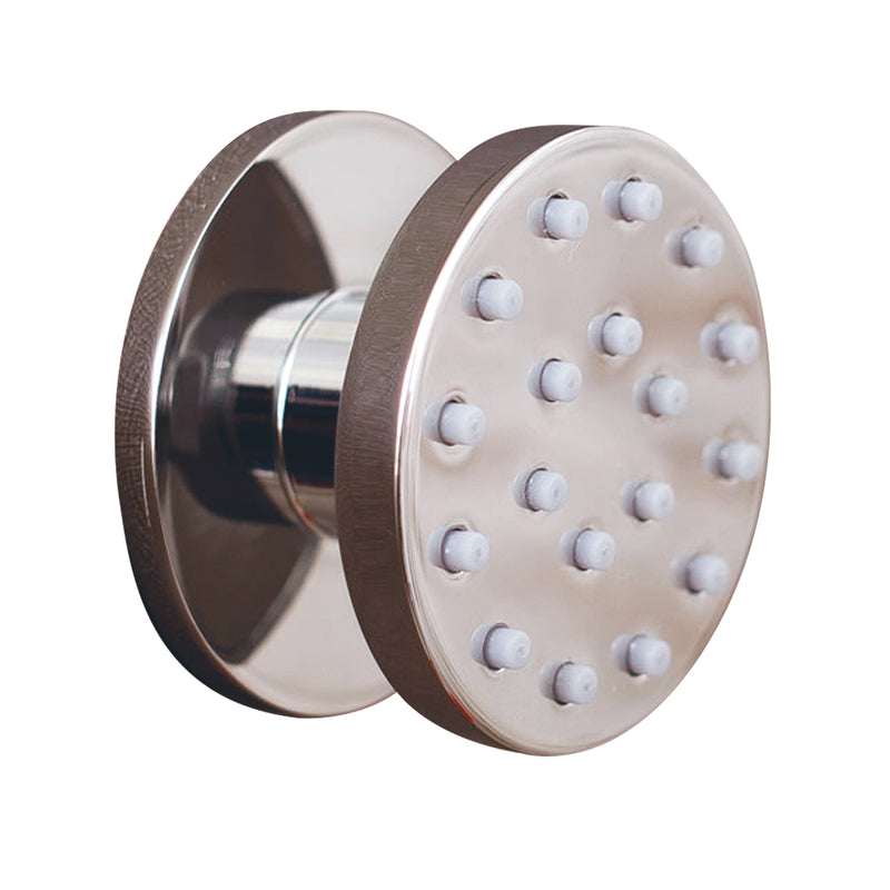 DAX Round Shower Body Spray, Spa Massage Jet, Chrome Finish 2-3/4 x 2-3/4 x 2-1/2 Inches (DAX-FHS27)