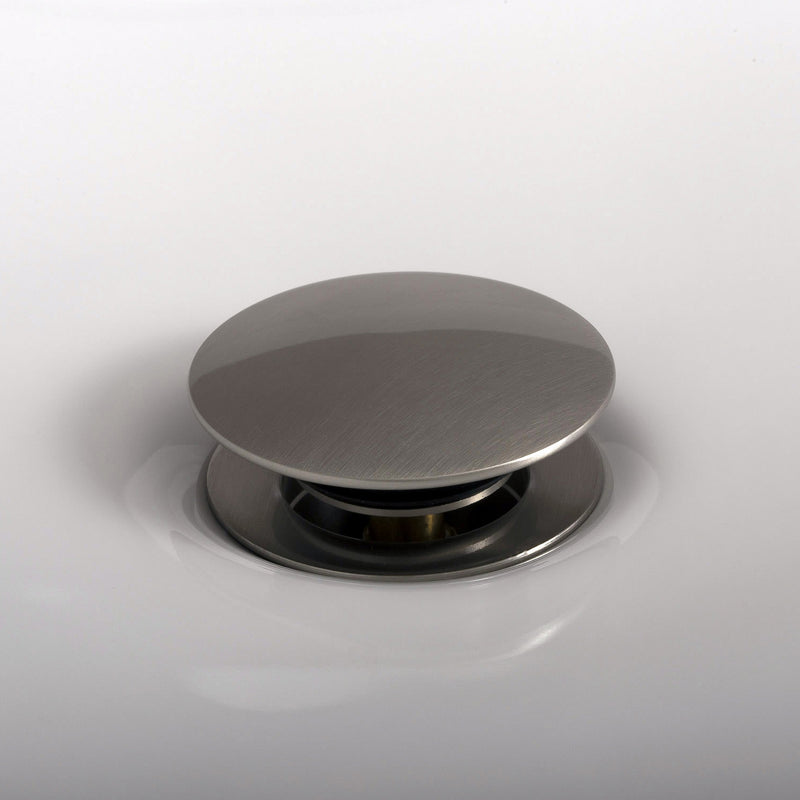 DAX Round Vanity Sink Pop up Drain, Brass Body, Brushed Nickel Finish, 2-5/8 x 8-5/8 Inches (DAX-82005-BN)
