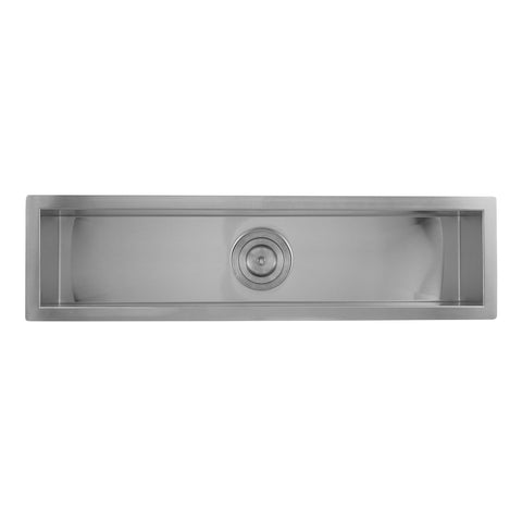 DAX Handmade Undermount Bar Sink, 16 Gauge Stainless Steel, Brushed Finish, 32 x 8-1/2 x 6 Inches (DAX-SQ-3285)