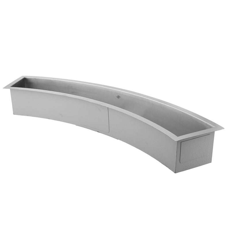 DAX Handmade Undermount Bar Sink, 16 Gauge Stainless Steel, Brushed Finish, 45 x 13 x 6 Inches (DAX-SQ-4512-C)