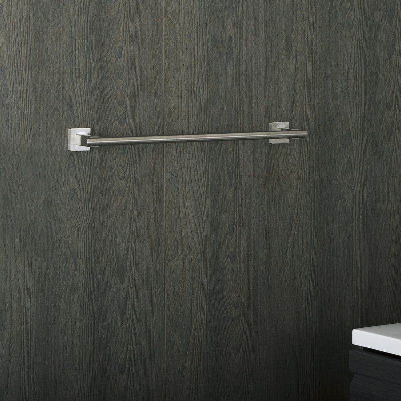 DAX Single Towel Bar, Wall Mount Stainless Steel, Polish Finish, 19-11/16 x 1-5/8 x 2-13/16 Inches (DAX-G0103-P-20)