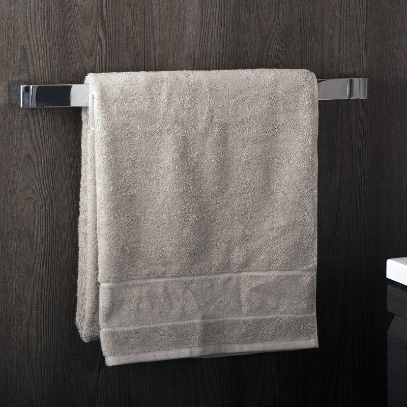 COSMIC Extreme Single Towel Bar, Wall Mount, Brass Body, Chrome Finish, 23-11/16 x 1-3/8 x 2-3/4 Inches (2530165)
