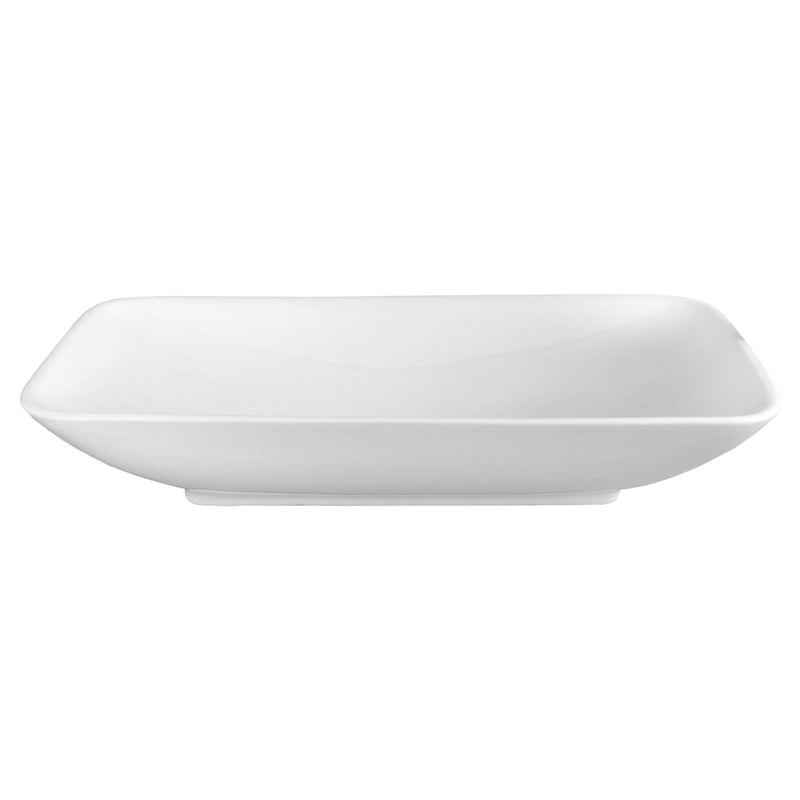 DAX Ceramic Rectangle Single Bowl Bathroom Vessel Sink, White Finish, 27-1/2 x 15-3/4 x 5-3/8 Inches (BSN-CL1055)
