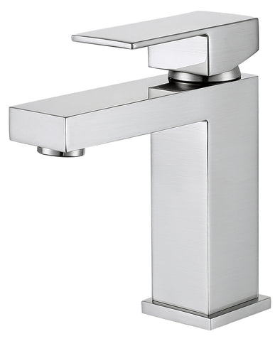 DAX Single Handle Bathroom Faucet, Brass Body, Chrome Finish, 4-5/16 x 6-1/2 Inches (DAX-6951A-CR)