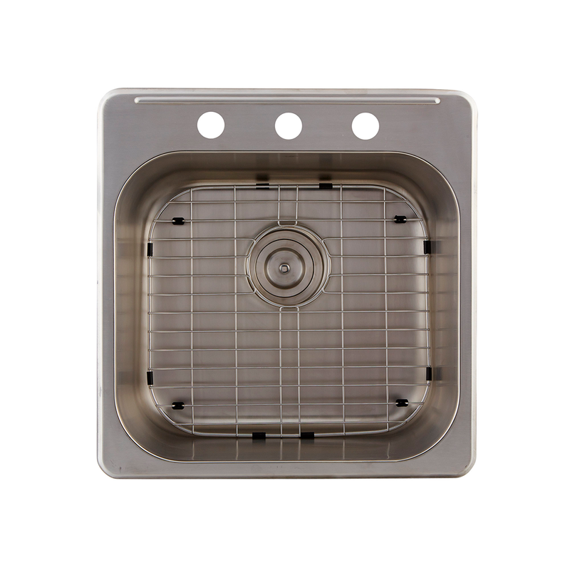 DAX Grid for Kitchen Sink, Stainless Steel Body, Chrome Finish, Compatible with DAX-OM2020, 17 x 15-1/4 Inches (GRID-OM2020)
