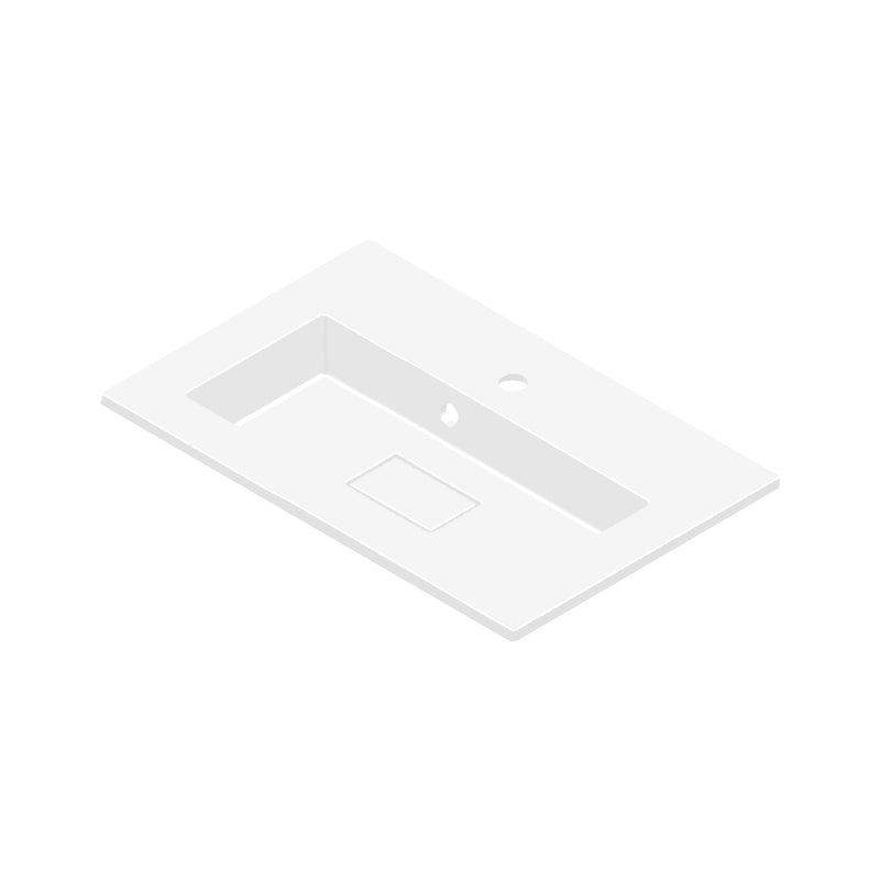 DAX Solid Surface Single Bowl Basin. Matte Finish (BSN-80036-M)