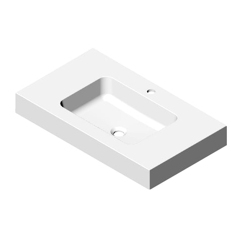 DAX Solid Surface Single Bowl Basin. Gloss Finish (BSN-90032-G)