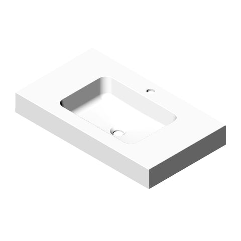DAX Solid Surface Single Bowl Basin. Matte Finish (BSN-90036-M)