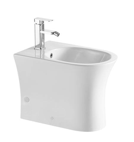 DAX Ceramic wall mount Bidet, White gloss Finish (BSN-CL12249F)