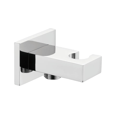 Dax Brass Square Hand Shower Holder With Hose Connector Chrome Finish (DAX-078-CR)