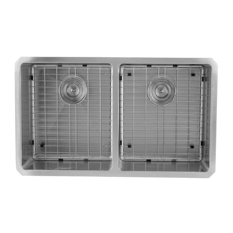 DAX 50/50 Double Bowl Undermount Kitchen Sink, 18 Gauge Stainless Steel, Brushed Finish , 32 x 19 x 9 Inches (DAX-3118B)