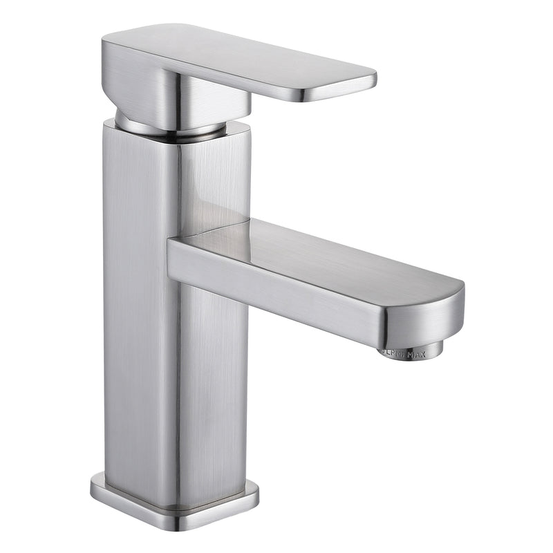 DAX Single Handle Bathroom Faucet, Brass Body, Brushed Nickel Finish, 4-3/4 x 7 Inches (DAX-6941A-BN)