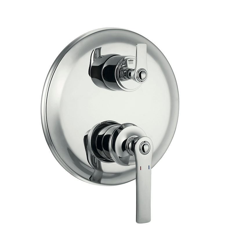 DAX Round Shower Single Valve Trim, Brass Body, Chrome Finish (DAX-79903-CR)