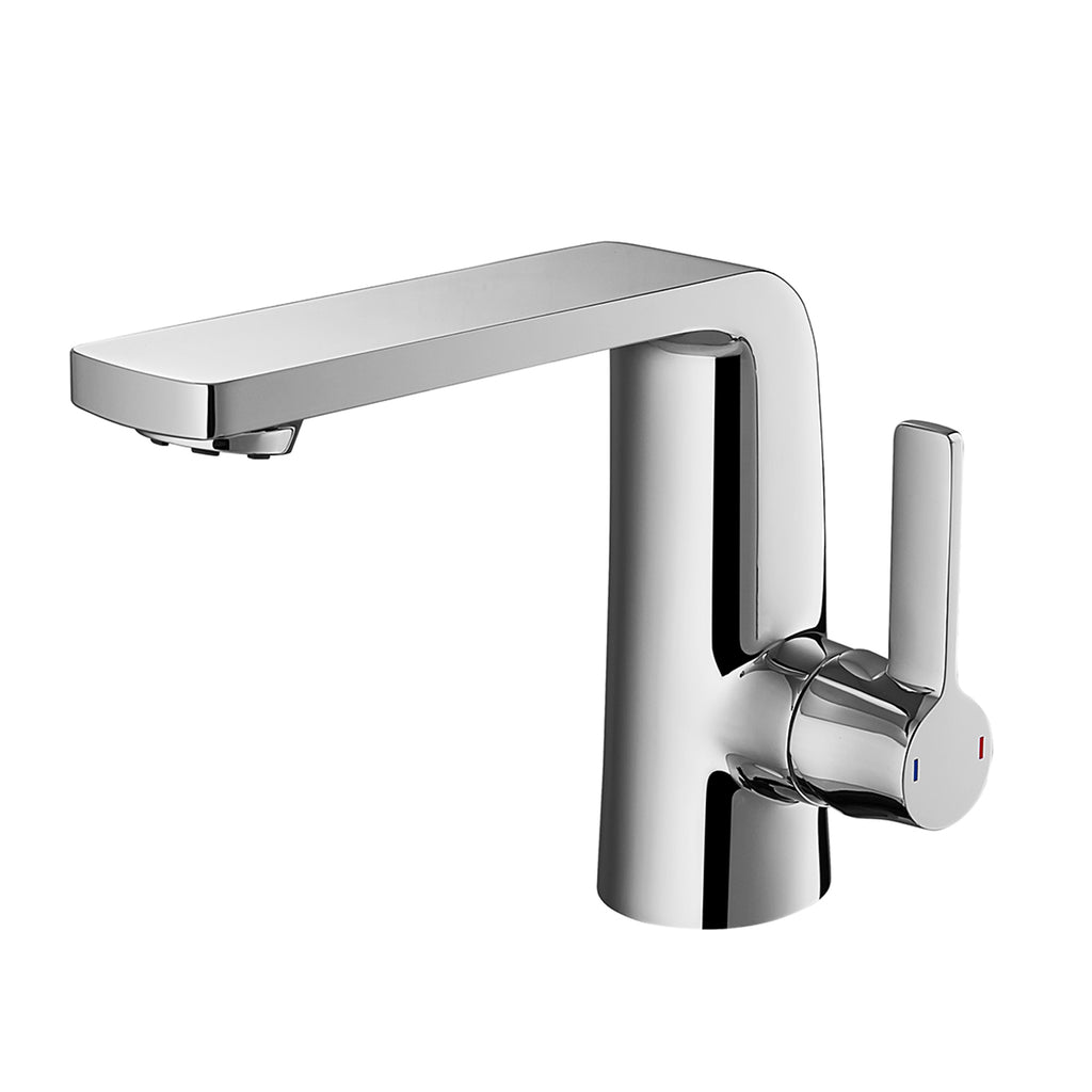 Dax Single Handle Bathroom Faucet Brass Body Brushed