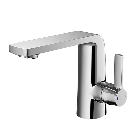 DAX Single Handle Bathroom Faucet, Brass Body, Brushed Nickel Finish, Spout Height 4-15/16 Inches (DAX-8226-BN)