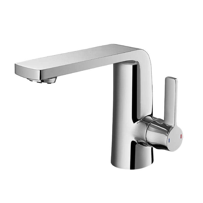 DAX Single Handle Bathroom Faucet, Brass Body, Chrome Finish, Spout Height 4-15/16 Inches (DAX-8226-CR)