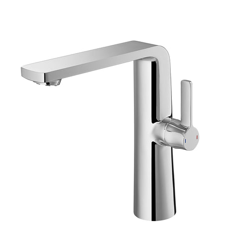 DAX Single Handle Bathroom Vessel Sink Faucet, Brass Body, Chrome Finish, Spout Height 8-3/4 Inches (DAX-8226A-CR)