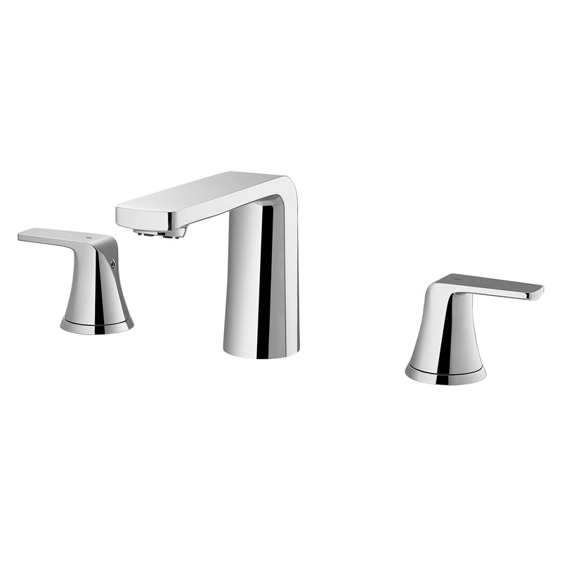 DAX Two Handle Bathroom Faucet, Brass Body, Brushed Nickel Finish, Spout Height 4 Inches (DAX-8236C-BN)