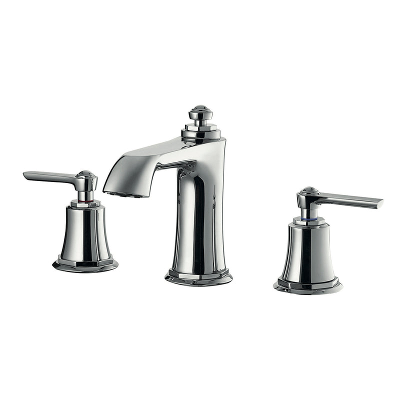 DAX Two Handle Bathroom Faucet, Brass Body, Chrome Finish, Spout Height 3-9/16 Inches (DAX-8259AC-CR)