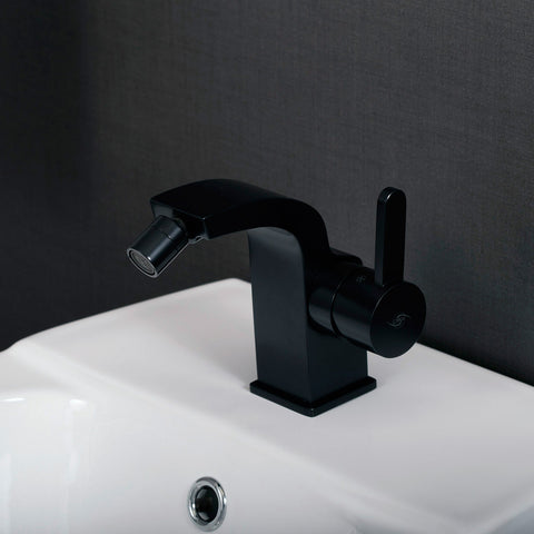 DAX Single Handle Bidet Faucet, Brass Body, Black Finish, 4-5/16 x 4-1/2 Inches (DAX-8560-BL)