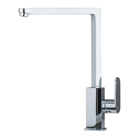 DAX Modern Single Handle Kitchen Faucet, Brass Body, Chrome Finish, Height 12 Inches (DAX-8789)