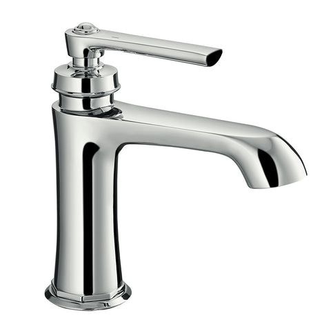 DAX Single Handle Bathroom Faucet, Brass Body, Chrome Finish, Spout Height 3-15/16 Inches (DAX-9809-CR)