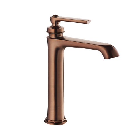 DAX Single Handle Bathroom Vessel Sink Faucet, Brass Body, Oil Rubbed Bronze Finish, Spout Height 7-1/16 Inches (DAX-9809A-ORB)