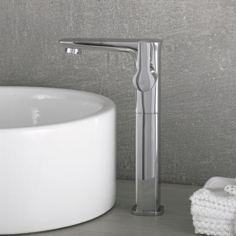 DAX Single Handle Vessel Sink Bathroom Faucet, Brass Body, Chrome Finish, 4-3/4 x 10-1/4 Inches (DAX-9883B)