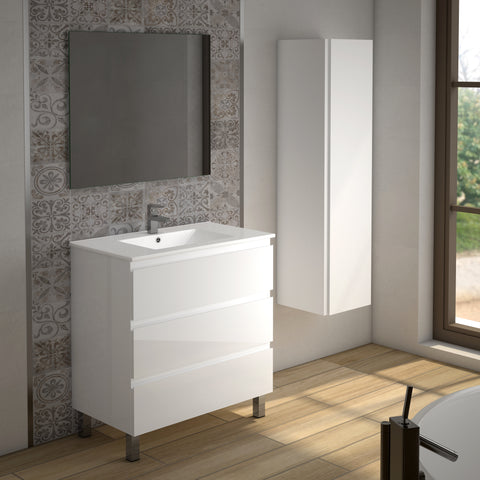 "DAX Costa vanity cabinet, 32"", glossy white with Onix basin (DAX-COS013211-ONX)"