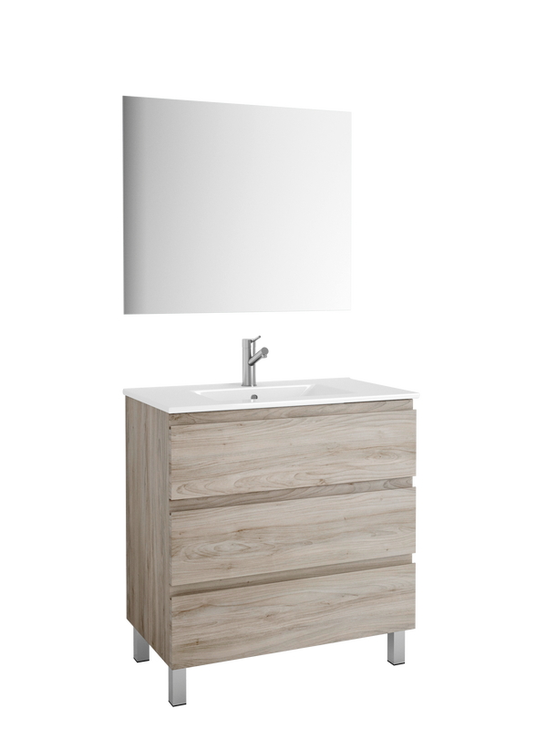 "DAX Costa vanity cabinet, 32"", pine with Onix basin (DAX-COS013212-ONX)"