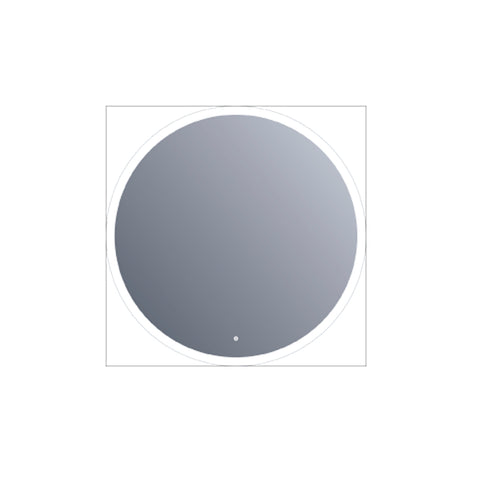 "24"" LED Round Mirror with 30mm width frosted. Touch Sensor (DAXDL73-6060)"