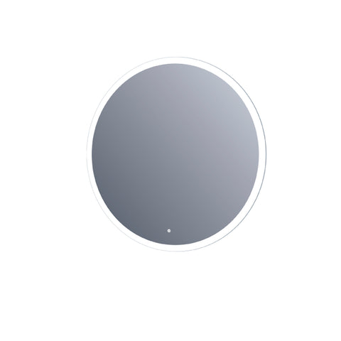 "36"" LED Round Mirror with 30mm width frosted. Touch sensor. (DAX-DL73-9090)"