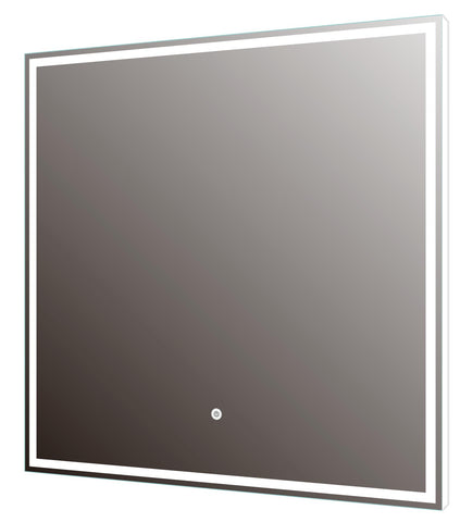 DAX LED Backlit Bathroom Vanity Mirror with Touch Sensor, 110 V, 50-60Hz, 23-5/8 x 23-5/8 x 12 5/8 Inches (DAX-DL756060)