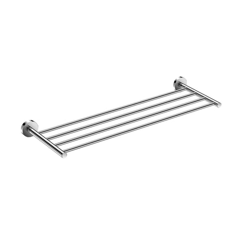 DAX Valencia Towel Rack with Shelf, Wall Mount, Brass Body, Chrome Finish, 23-5/8 x 7-7/8 x 2 Inches (DAX-GDC120168-CR)