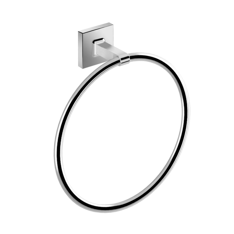 DAX Milano Towel Ring, Wall Mount, Brass Body, Chrome Finish, 7-7/8 x 2-7/16 x 8-11/16 Inches (DAX-GDC160172-CR)
