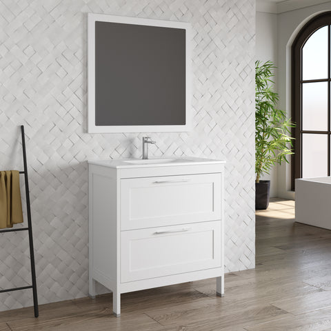 DAX Lakeside Single Vanity 32 Inches White with Onix Basin (DAX-013211-ONX)