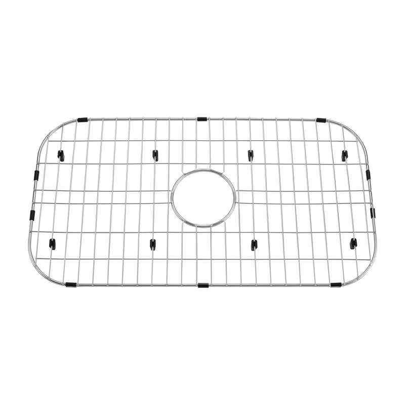 DAX Grid for Kitchen Sink, Stainless Steel Body, Chrome Finish, Compatible with DAX-OM3323, 27-3/4 x 14-1/4 Inches (GRID-OM3323)