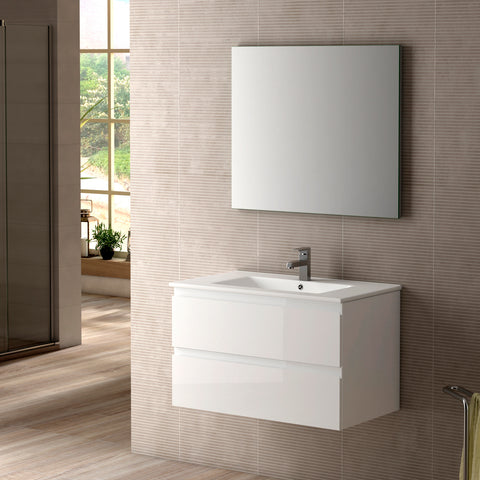 "DAX Pasadena vanity cabinet 32"", glossy white with Onix basin (DAX-PAS013211-ONX)"