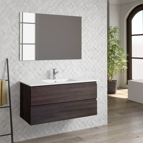 "DAX Pasadena vanity cabinet 40"", wenge with Onix basin (DAX-PAS014013-ONX)"