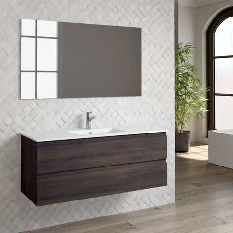 "DAX Pasadena vanity cabinet 48"", wenge with Onix basin (DAX-PAS014813-ONX)"