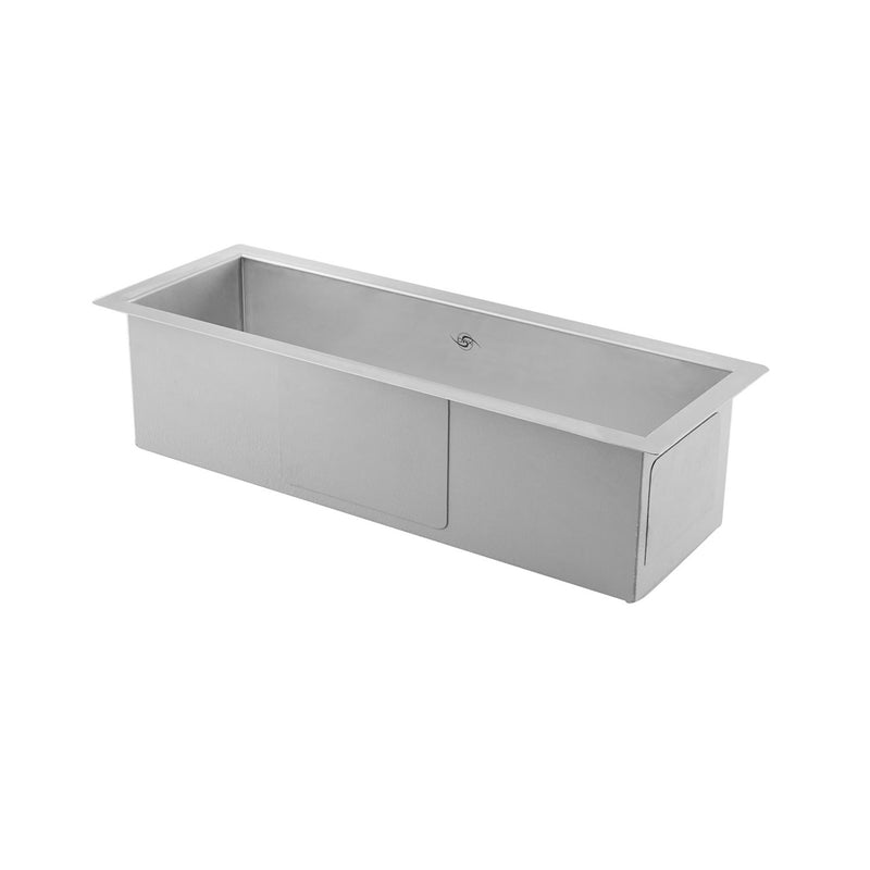 DAX Handmade Undermount Bar Sink, 16 Gauge Stainless Steel, Brushed Finish, 23 x 8-1/2 x 6 Inches (DAX-SQ-2385)
